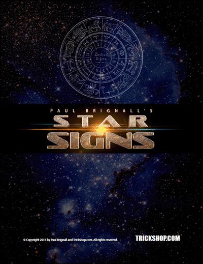 Star Signs Astrology Mental Magic Effect Paul Brignall Trickshop Com