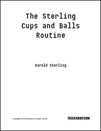 Free Magic eBook - Cups and Balls Routine