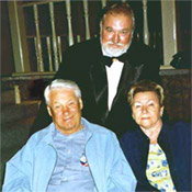 Dr. Vladimir Svechnikov with former Russian President Boris Yeltsin and his wife